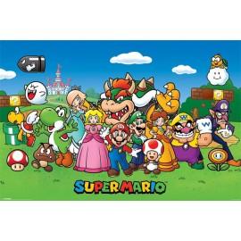 Poster Super Mario Bros Characters