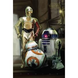 Poster Star Wars Episode VII Droids