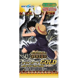 Booster de cartes + chewing-gum One Piece Film Gold Clear Card Collection Gum