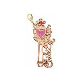 Pendentif breloque Sailor Moon Wire Art Charm Pink Moon Stick
