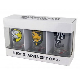Set de 3 verres à liqueur Metal Gear Solid