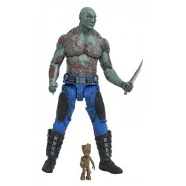 Figurine Les Gardiens de la Galaxie Vol.2 Marvel Select Drax & Baby Groot